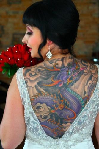 Tattooed Bride - Photo by Michael Raffin