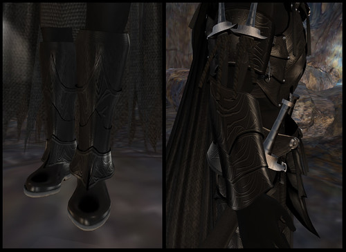 male dark elf - boots and arm details