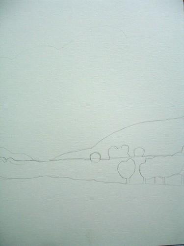 """Art practice: """"Blue Sky, Green Fields"""" (1 of 7)"""