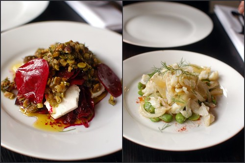 salads at Sitka and Spruce