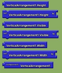 Google app inventor - vertical layout