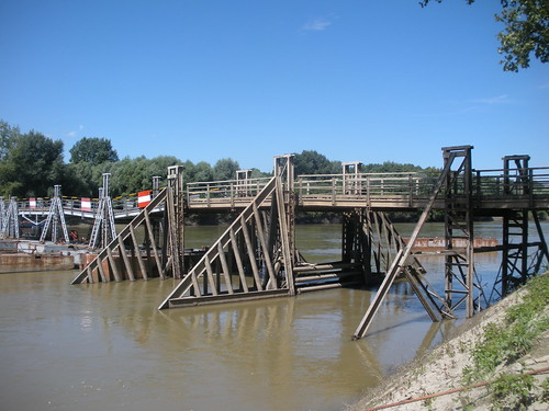Pontoon bridge near Csongrad