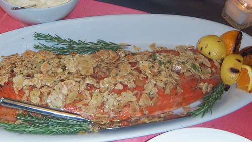 Almond Crusted Salmon with Meyer Lemon Aioli