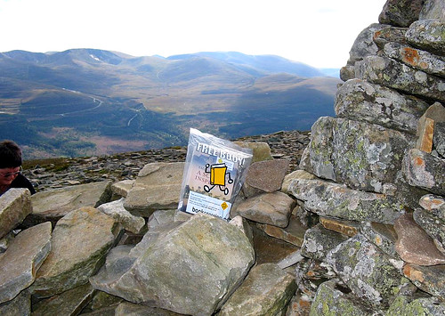 Bookcrossing on Meall a' Bhuachaille