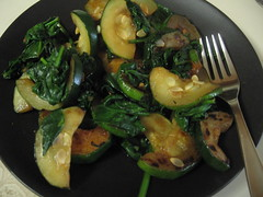 Lunch part 2: sauteed spinach & squash