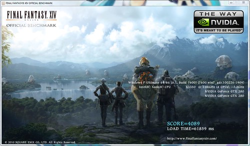 FFXIV Benchmark score - Low Res (720p)