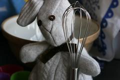 Bunny does baking