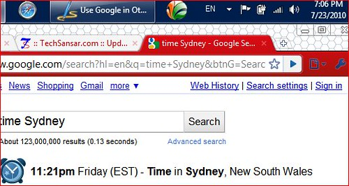 Google Time & Date of any City