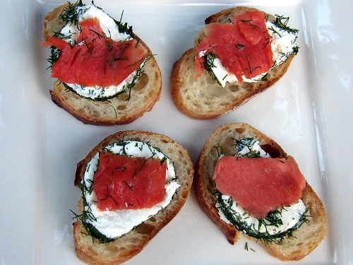 Lox 'n' Goat Cheese Crostini