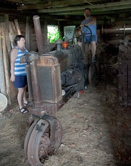 Lauri, Terry and an old tractor