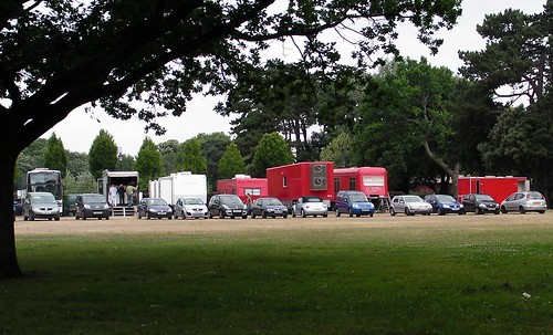 TV filming in Sophia Gardens