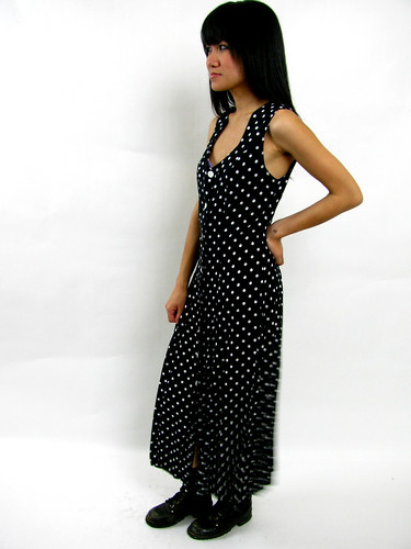VINTAGE 90's POLKA DOTTED MAXI
