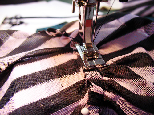 striped dress - sewing