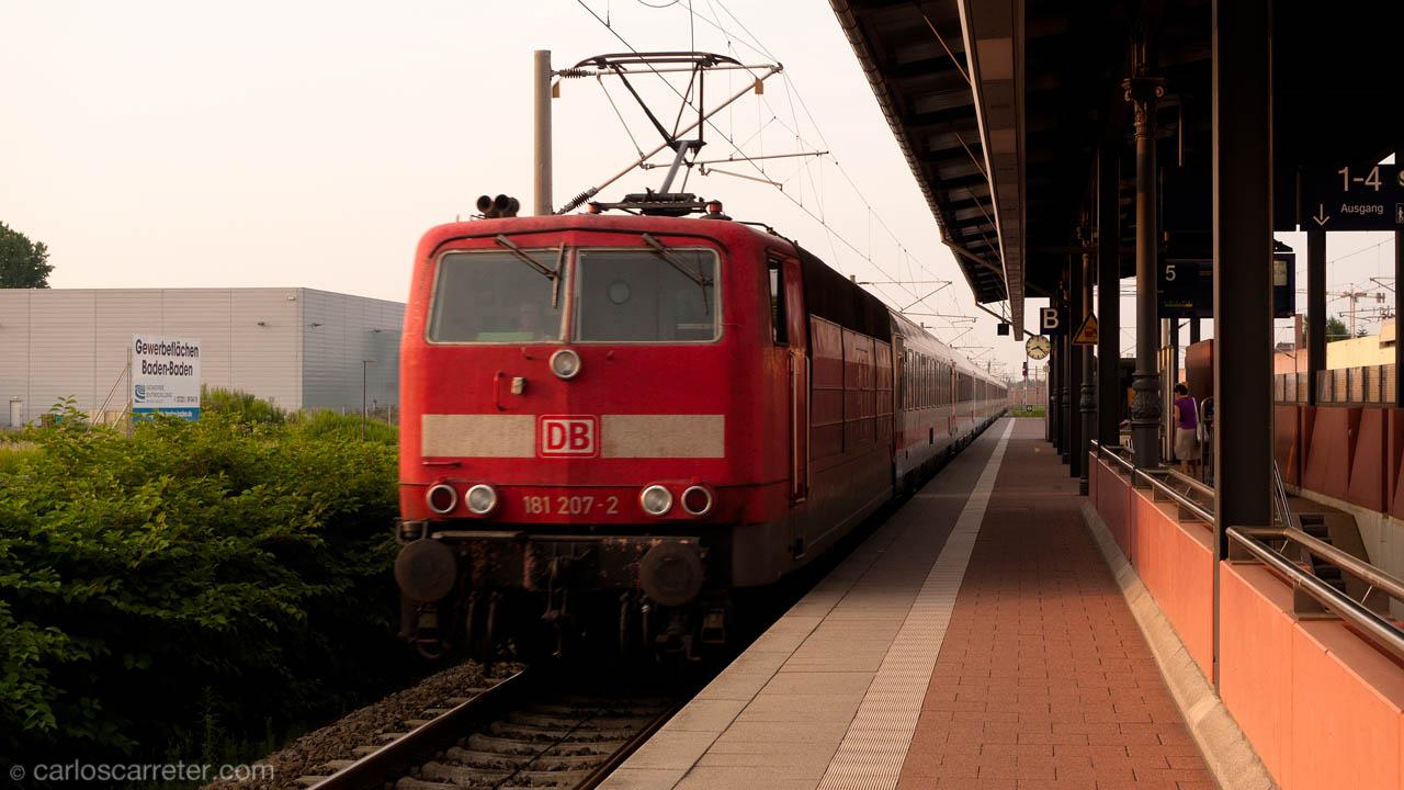 Eurocity procedente de Munich con destino Estrasburgo