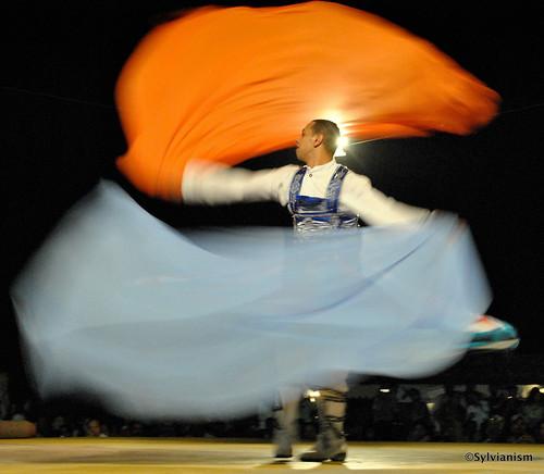 Tanoura dancer in desert