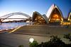 Sydney landmarks: Harbor Bridge and the Opera House