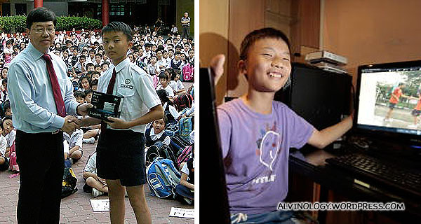 YOG Hero, Low Wei Jie - pictures via Straits Times.com