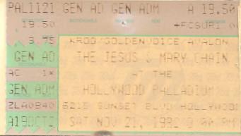 The Jesus and Mary Chain, Palladium