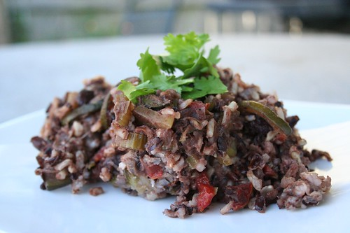 Brown & Black Rice Casserole with Black Beans & Garden Vegetables