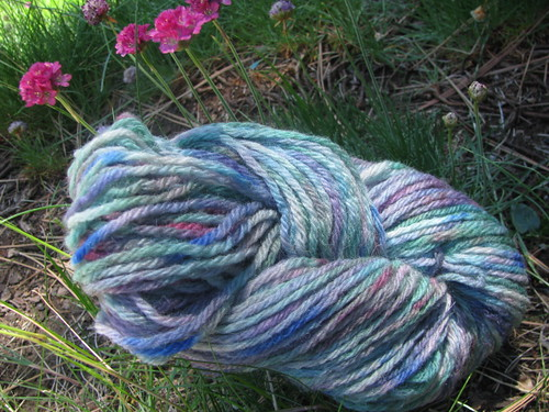 Handspun 4-Ply Domestic Wool Blue