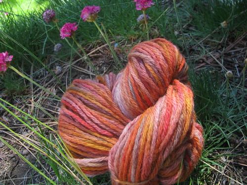 Handspun 4-Ply Domestic Wool Orange Crayola