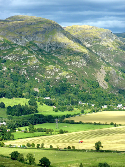hills near Stirling, Scotland