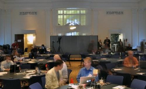 @digiphile and @scobleizer Talk as #crisisdata Attendees Arrive