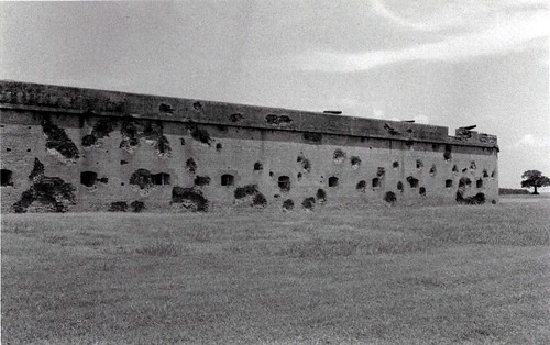 Some of the damage at Fort Pulaski