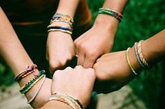 friendship bracelets.