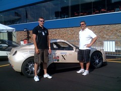 Here I'm negotiating with a RaceAbout team member on the price to purchase his car. #PIAXP