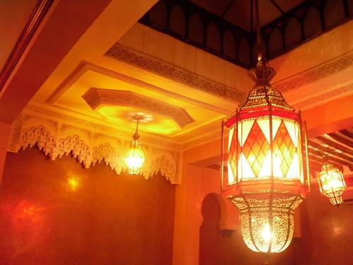 lamp at restaurant