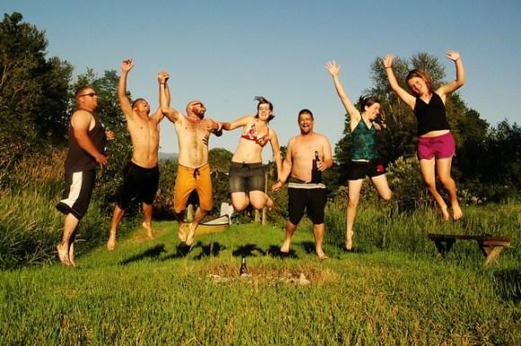 Summer family jump