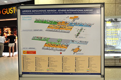 Athens airport map