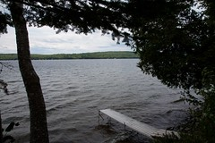 The dock at Terry's childhood home