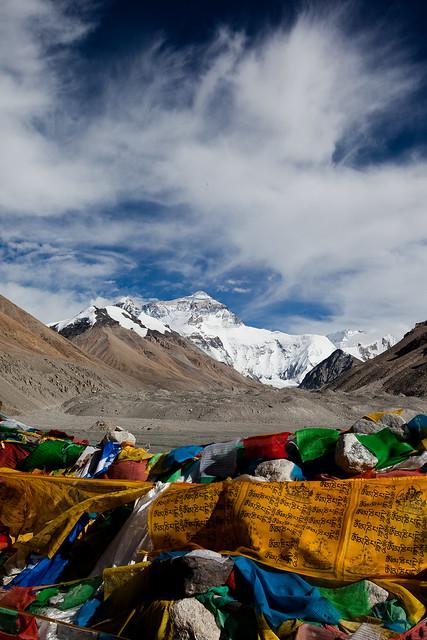 聖山和經幡 Mt Everest