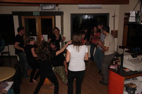 Dancing at open Mic night at Nati Cafe
