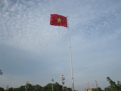 ondea con fuerza La Roja, que no es la bandera de Estrella Damm sino la de Vietnam