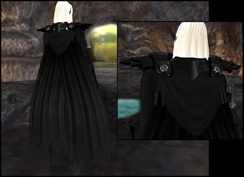 male dark elf - cape detail