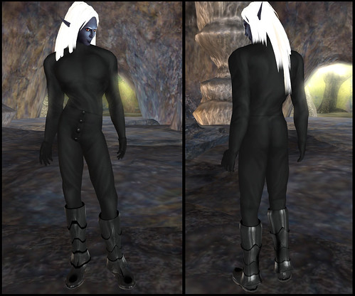 male dark elf - clothes detail