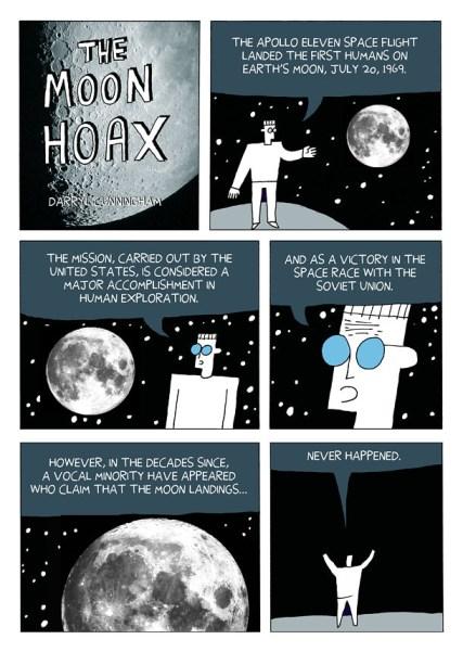 Darryl Cunningham Investigates: The Moon Hoax, pagina 1