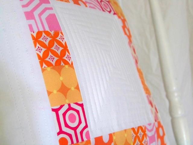 patchwork pillow sham
