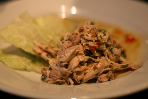 The Ginger Dog - Poached chicken salad with chilli (approx £6.00)
