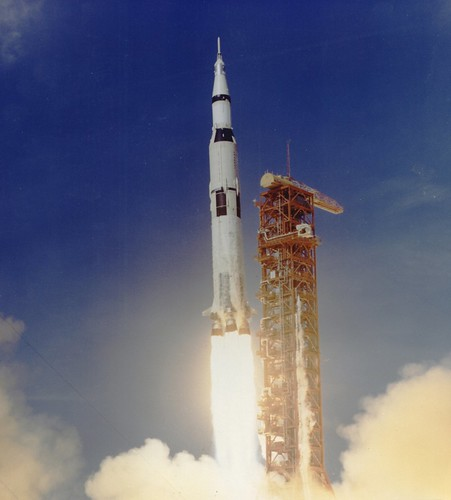 Apollo 11 Launched Via Saturn V Rocket