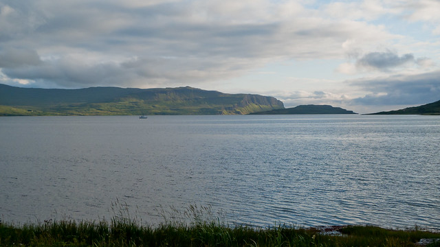 View over Loch na Keal, from the campsite