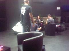 Melissa auf der Maur, Backstage, for ORF.