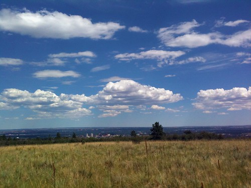 View of Colorado Springs from the trail
