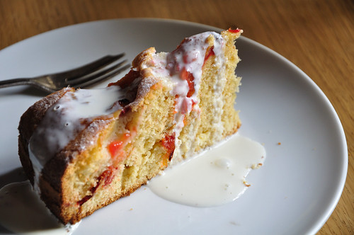 Slice of German Plum Cake