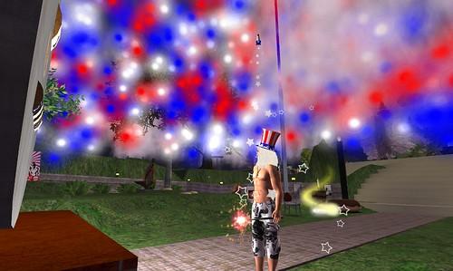 July 4th at Hughes Rise : Rocket hat!