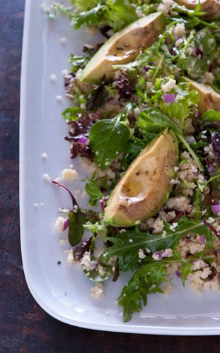roast avocado salad
