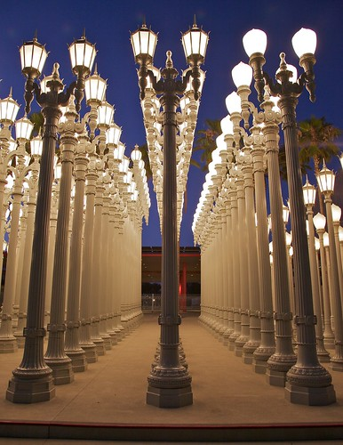 Urban Light at L.A.C.M.A.